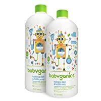Deals on 2-Pack Babyganics Foaming Dish and Bottle Soap Refill 32oz