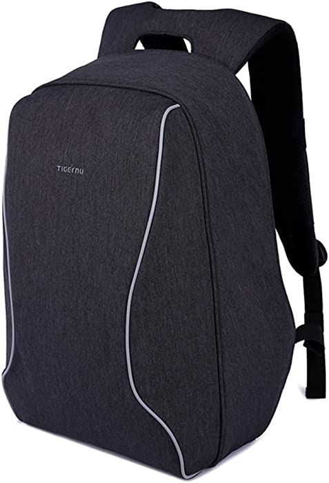 Kopack Lightweight Laptop Backpack Anti Theft Shockproof Black Computer Backpack ScanSmart TSA Friendly Water Resistant 14