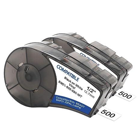 Amazon.com: Samshion (M21-500-595-WT) - Cinta adhesiva de ...