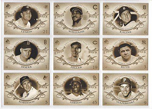 - 2005 Upper Deck Sp Legendary Cuts Complete 90 Card Set Includes Babe Ruth and Lou Gehrig