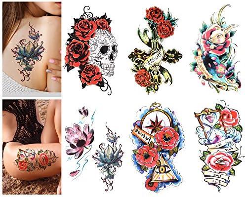 Luxspire Tatuajes Temporales, Pegatinas Temporales del Tatuaje ...