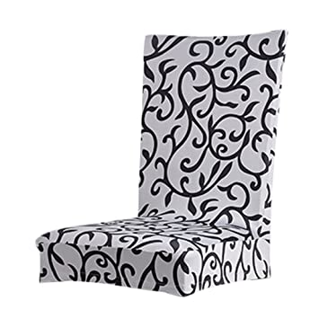 Paddy Stretch Short Removable Dining Room Stool Chair Cover Slipcovers Grey