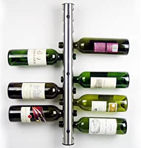 IMAGE Home Kitchen Bar Stainless Steel Wine Rack Wine Wall Mounted Holder 12 Bottles
