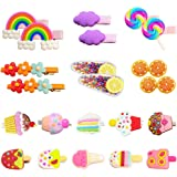 Hair Clips for Toddler Girls, 22Pcs Candy Rainbow Lollipops Barrettes Ice Cream Cute Hair Accessories Pretty Hairpins for Tod