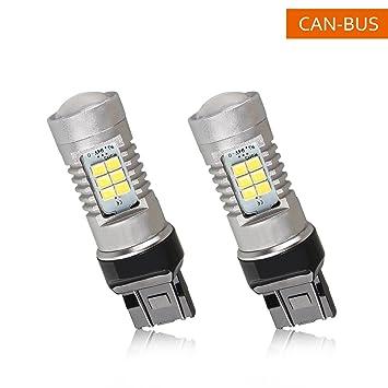 Bombillas LED Coche 7443 7440 992 T20 con Proyector para Luces de Marcha Atrás Inversas,