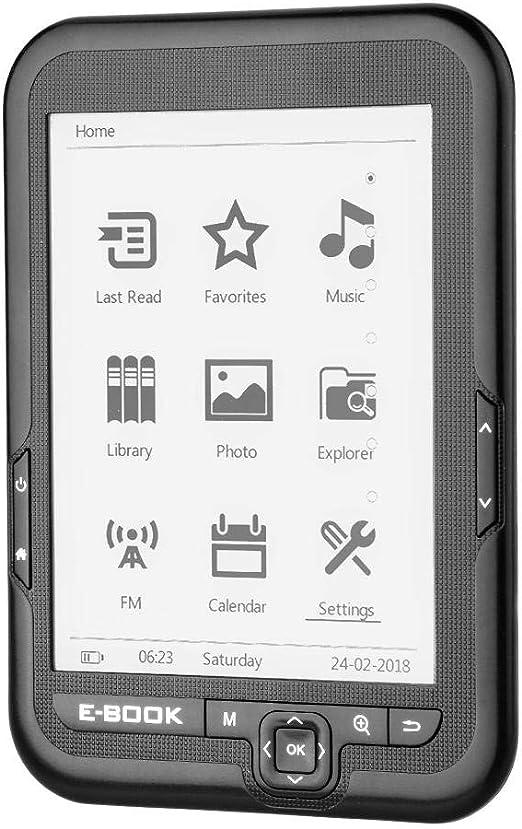 E-Reader, Portátil 6 Pulgadas USB2.0 E-book Lector de Libros ...