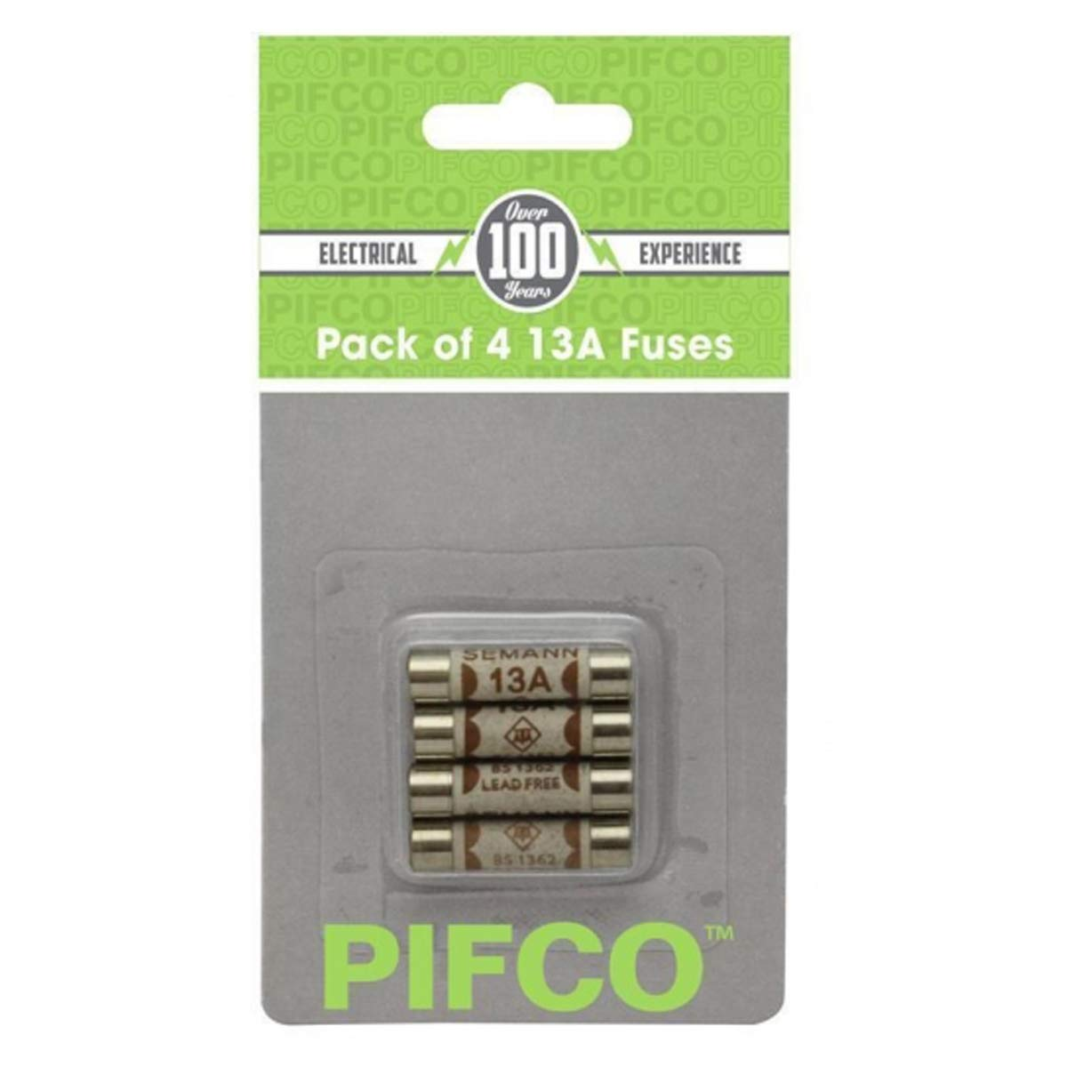 Pifco PIF2042 Ceramic 4x13 AMP Domestic Household Plug Electrical Fuses Pack