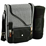 Picnic at Ascot 535X-HT Bordeaux-Wine & Cheese Cooler Bag, Houndstooth