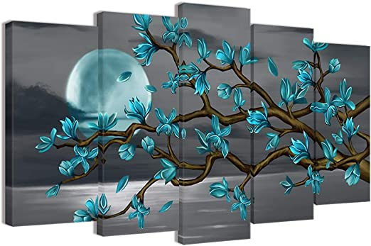 Beautiful White Magnolia Flower Wall Art Sticker For Living Room Bedroom Decor