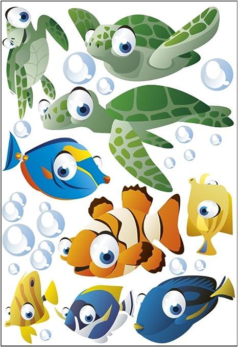 geschenke-fabrik.de - Producto de decoración infantil de pared (wandsticker_unterwasserwelt1): Amazon.es: Hogar