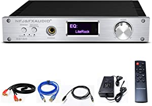 FX AUDIO Wireless Bluetooth Power Amplifier CSR8675 150W X2 Dual Channel Home Audio Stereo Amp with Optical Coaxial PC-USB RCA Input Full Digital Class D Amplifier with DC 36V 6A Power Supply (Silver)