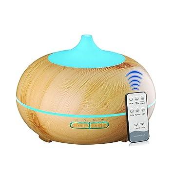 Výsledok vyhľadávania obrázkov pre dopyt 300ML Aroma Diffuser Aromatherapy Wood Grain Essential Oil Diffuser Ultrasonic Cool Mist Humidifier For Home Remote Control