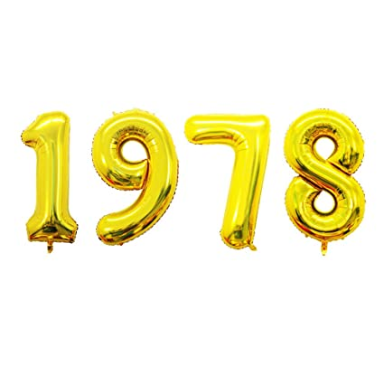 GOER 42 Inch Gold Number Balloons 1978Helium For 40th Anniversary And Birthday Gifts