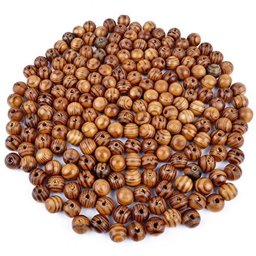 BronaGrand 200pcs Wood Round Bead Natural Wood Spacer Beads Wooden Beads for Jewelry Making -