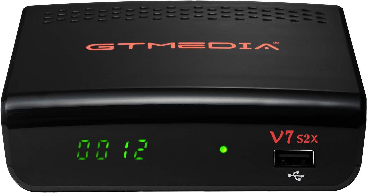GT MEDIA V7S2X Decodificador Satelite HD con Antenna WiFi USB, DVB-S/S2/S2X, Full HD 1080p H.264, Soporte Multi-stream/T2MI PVR Youtube CCcam Biss ...
