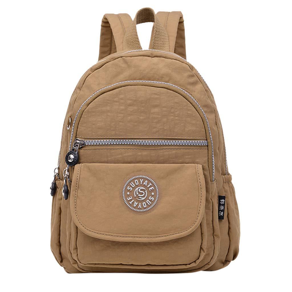 DreamedU Small Backpack for Women Shoulder Bag Handbag Laptop College Fashion Cute Stylish Work School Gym for Girls Ladies (J) by DreamedU