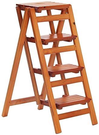LHF Inicio Taburetes de escalera, silla de escalera de 4 peldaños ...
