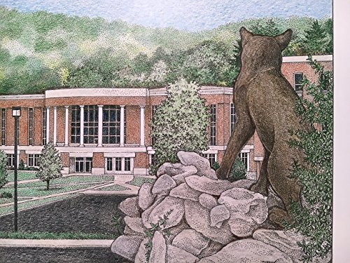 Western Carolina University - Bell Tower 11''x14'' pen and ink print by Campus Scenes (Image #7)