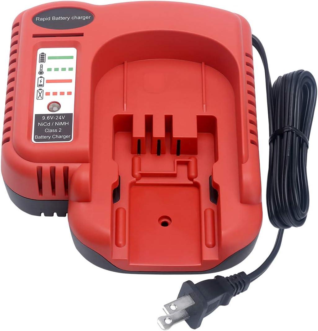 Biswaye 9.6V-18V-24V Battery Charger BDCCN24 BDFC240 FSMVC for Black & Decker 18V 14.4V 12V 9.6V 24V NiCD&NiMH Battery HPB18-OPE HPB18 FS18C HPB14 HPB12 HPB24