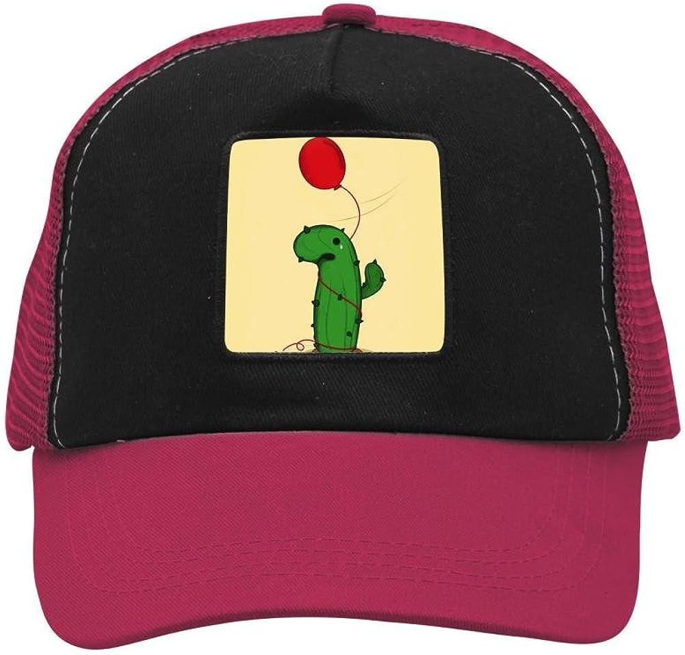 Nichildshoes hat Mesh Caps Hats for Men Women Unisex,Print Cactus Balloon