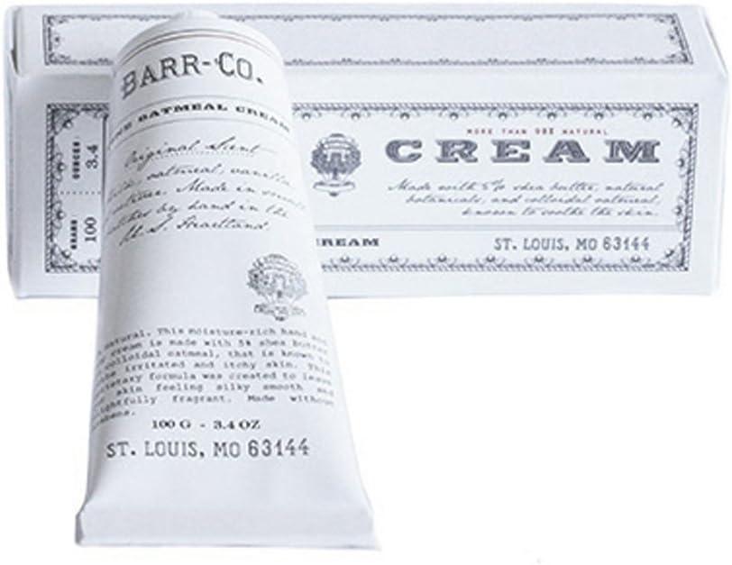 Barr Co Crema fina de harina de avena en un tubo 3.4 oz Blanco: Amazon.es: Salud y cuidado personal