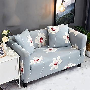 YQ WHJB Telas Sofa slipcover elástico,Planta de Flores Cubre ...