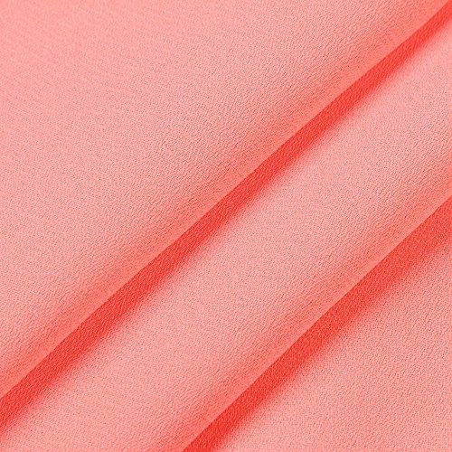 Shirts Stitching laches T Les Trois Tops Quarts Dentelle NINGSANJIN Cou Blouse v Manches Femmes Orange gzTFqpqxw