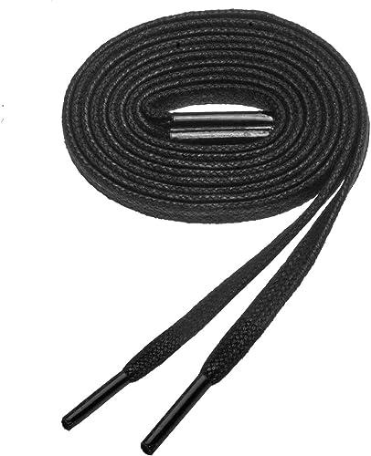 "Shoeslulu 20-60/"" Premium Flat Waxed Cotton Bootlaces Shoelaces"