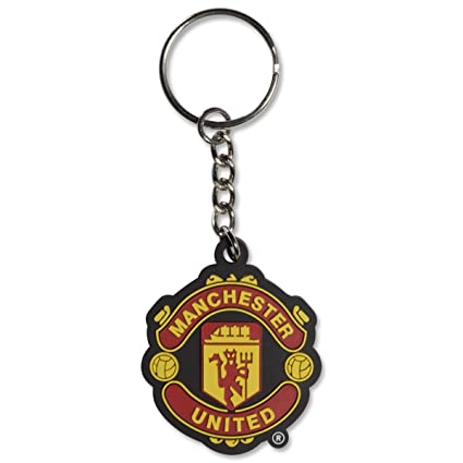 Manchester United FC Crest Keyring - Official Keychain - Perfect Manchester United FC Gift - Imported - For Fans of All Ages - Quality Team Crest ...