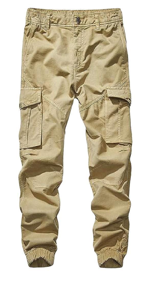 XiaoTianXinMen XTX Men Loose Rugged Multi Pockets Harem Jogging Ripstop Cargo Pants