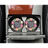 Christian quote - Fearfully and wonderfully made Psalms 139:14 - Car coasters - Sandstone auto cup holder coasters bible verse - Gifts for women