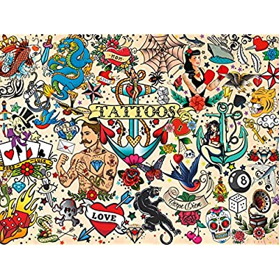 Buffalo Games - Art of Play Collection - Tattoopalooza - 750 Piece Jigsaw Puzzle: Toys & Games