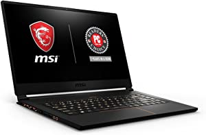 "MSI GS65 Stealth THIN-051 15.6"" 144Hz 7ms Ultra Thin Gaming Laptop GTX 1060 6G, i7-8750H 6 Core, 16GB RAM, 256GB SSD, RGB KB VR Ready, Metal, Black w/ Gold Diamond Cut, Win 10 Home 64bit"