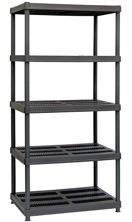 Pleasing Amazon Com 5 Shelf Resin Storage Shelving 72 H Plastic Interior Design Ideas Lukepblogthenellocom