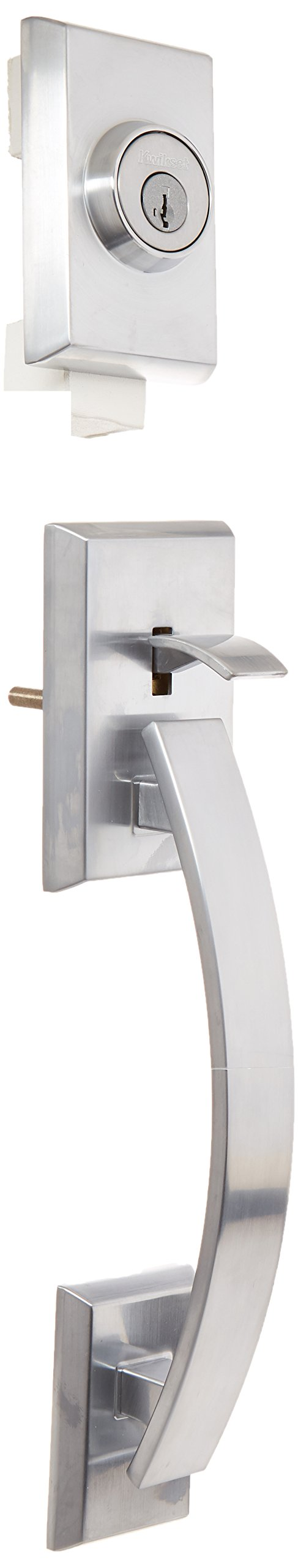 Kwikset 801TVHLIP-26DS Tavaris Double Cylinder Exterior Handleset Smart Key Satin Chrome Finish