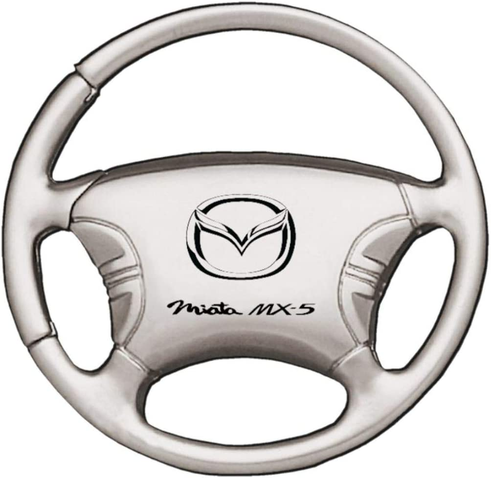 Mazda Miata MX5 Chrome Teardrop Key Fob Authentic Logo Key Chain Key Ring Keychain Lanyard
