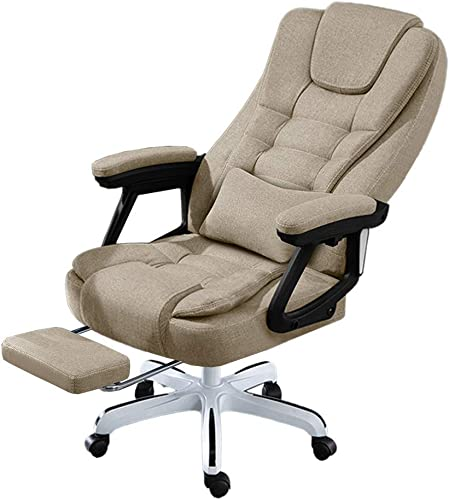 LKJH Massage Office Chair with Armrests and Footrest