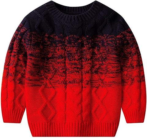 PUJIANGxian Boys Jersey de algodón con Cuello Alto para niños y Bolsillos Rojo Rojo 130: Amazon.es: Hogar
