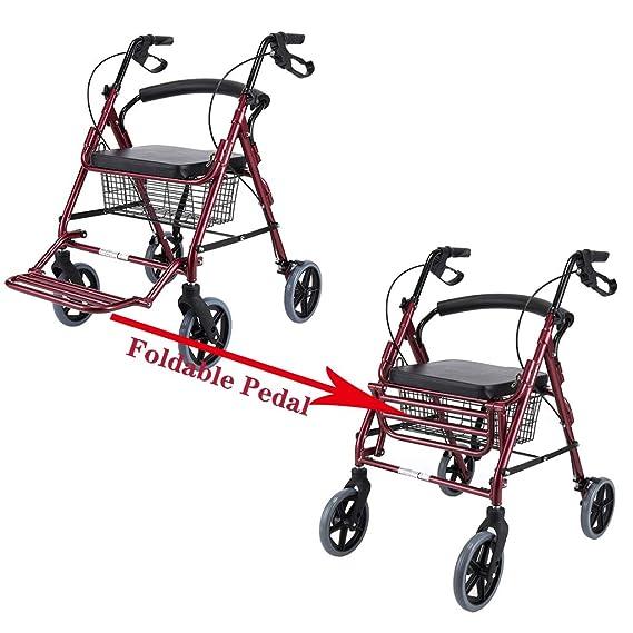 LHNLY-Andadores Estándares y Ligeros Caminante Andador con Seatand ...