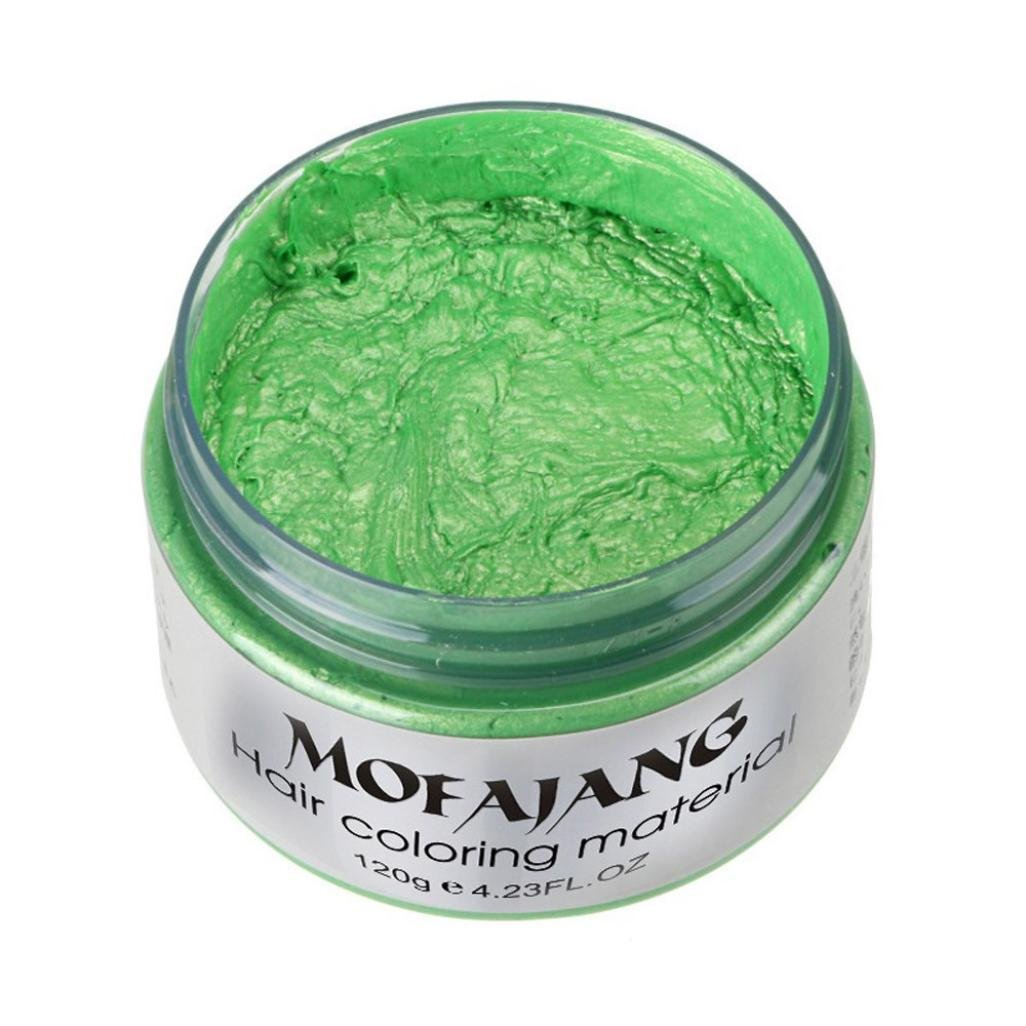 TONSEE DIY Hair Clay Wax Mud Dye Cream Grandma Hair Ash Dye Temporary 7 Colors (Green) TONSEE_121578