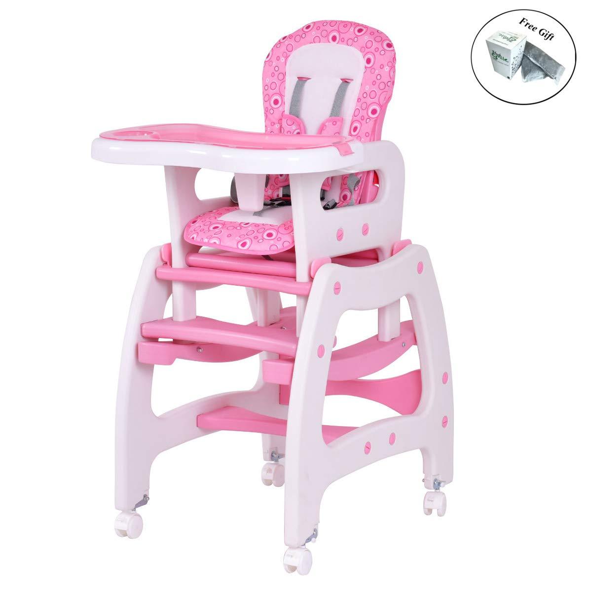 Silla de beb/é de Madera 3 en 1 Juego de sillas de Mesa Convertibles Soporta 65 kg arn/és de 3 Puntos Color : Style 1 Trona Bebe Asiento Elevador con Bandeja de alimentaci/ón extra/íble