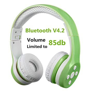 Auriculares Bluetooth para niños, Hisonic Auriculares Plegable para niños con Volumen Limitado Compatible con iPhone,iPad Mini, iPad Tablets,PC,MP3 y más ...