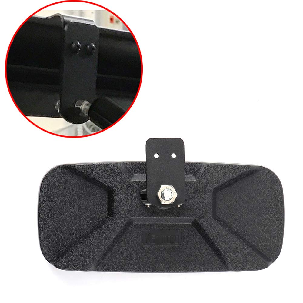 Rear View Mirror for 2017 2018 2019 Polaris Ranger 900 XP with Factory Present Drop Down Mounting Tab KEMIMOTO UTV Forklift Center Rearview Mirror