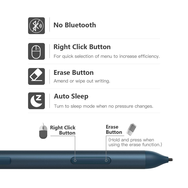 Schwarz MoKo Kompatibel mit Microsoft Surface Go Stylus Stift Pen Digital Aktiv Stylus mit 1024 Druckempfindlichkeitsstufen f/ür Microsoft Surface Go