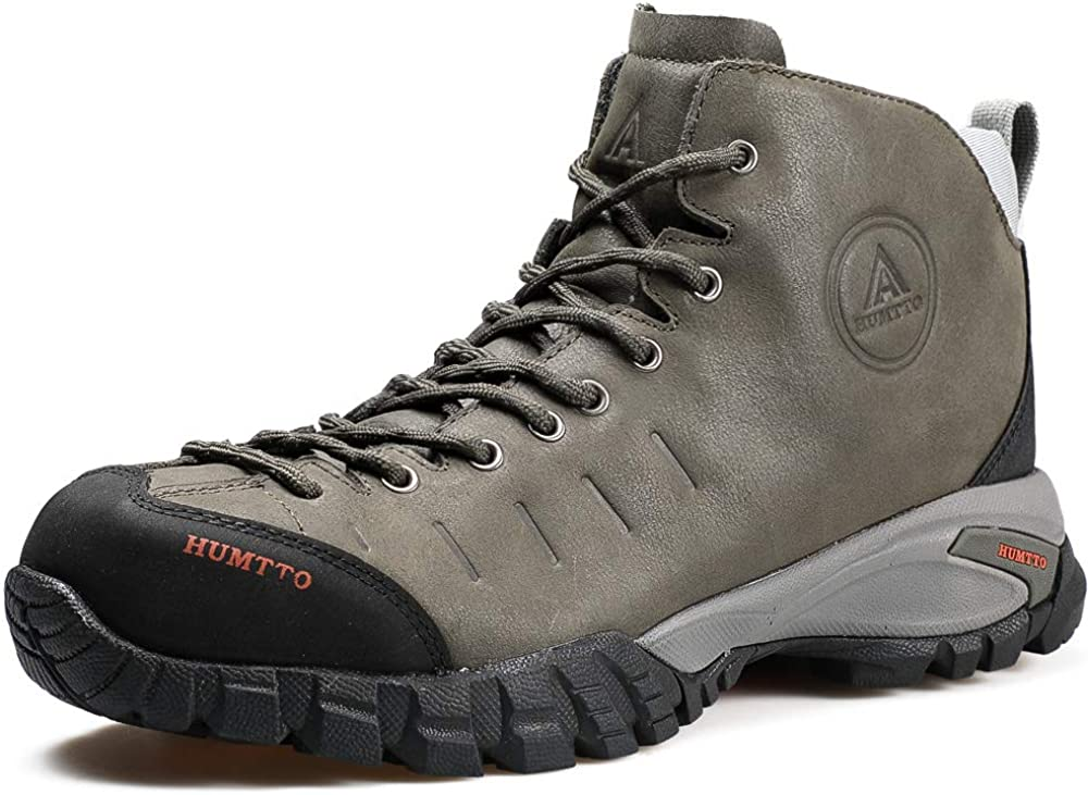 Mens Hiking Boots Waterproof Leather Climbing Sports Shoes Outdoor Camping Hunting Sneakers