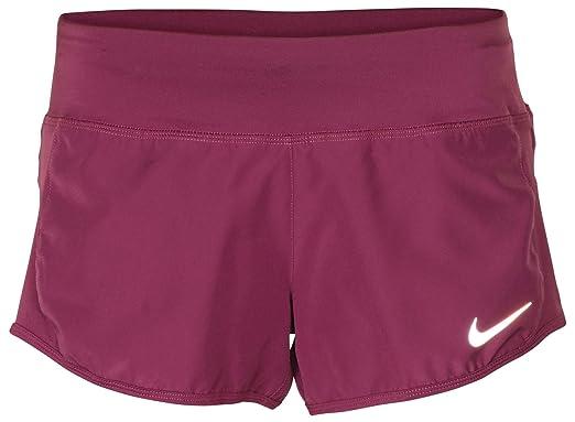 8caecec332e3b Amazon.com: Nike Women's Dri-Fit Crew Running Shorts-Plum: Clothing