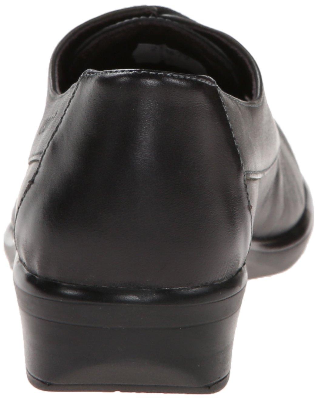 NAOT Women's Kedma Oxford B0072KY2NW 41 EU/10-10.5 M US Jet Black Leather/Tin Gray Leather