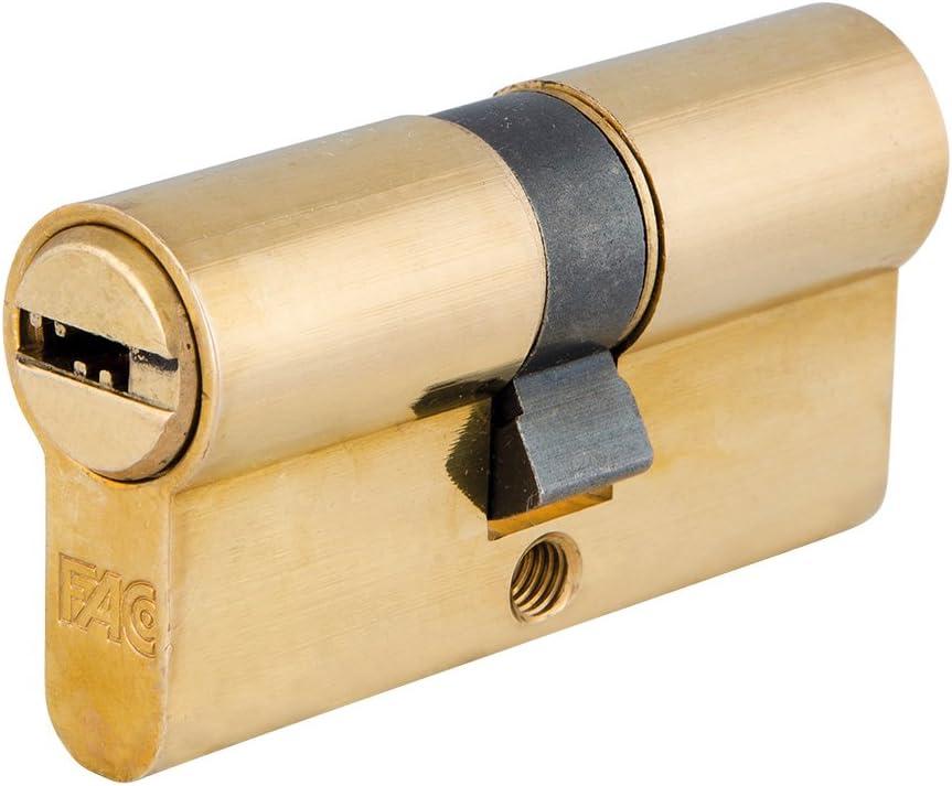 FAC 3014200 Cilindro Seguridad 60-p 30x30 Latonado 15,0 mm