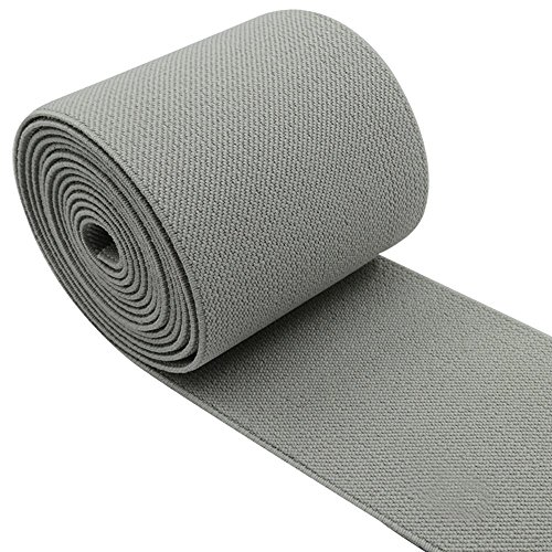 - iCraft 3-Inch Wide by 2-Yard Colored Woven Elastic Band,Grey 14050