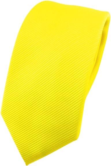 TigerTie - corbata estrecha - amarillo en flor amarilla amarillo neón ...